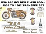 BSA A10 Golden Flash 1954 to 1962 Transfer Decal Set (1)